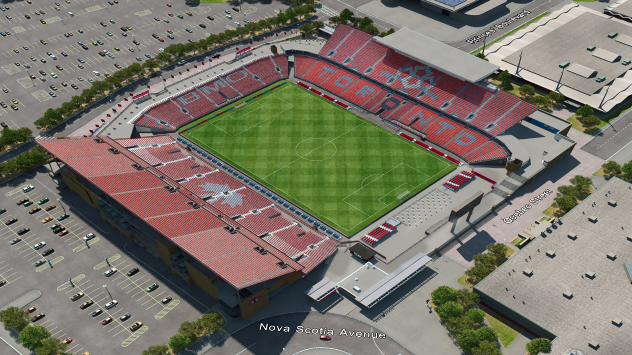 Bmo Field Map Toronto FC Virtual Venue™ by IOMEDIA
